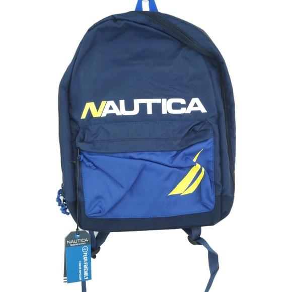 5defc3918588 Nautica Backpack Men s Horizontal Zip Polyester